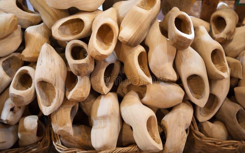 荷兰语油漆穿上鞋子木 免版税库存照片