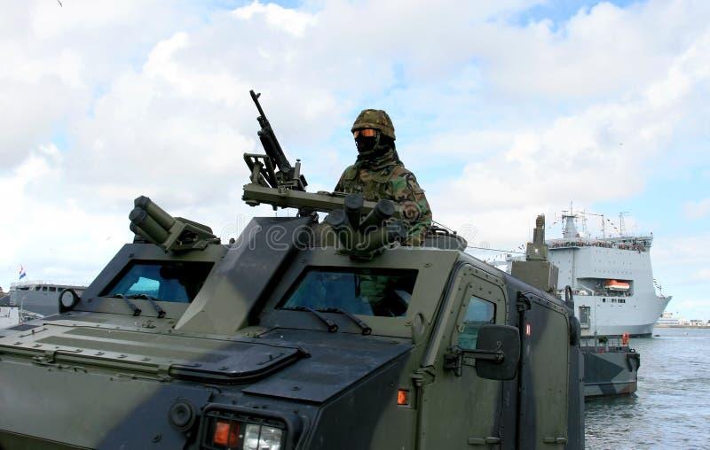 荷兰语着陆海军陆战队员坦克 图库摄影