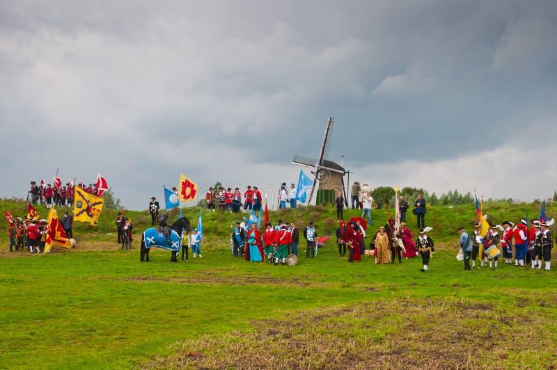 荷兰语节日协会terheijden村庄 免版税库存照片