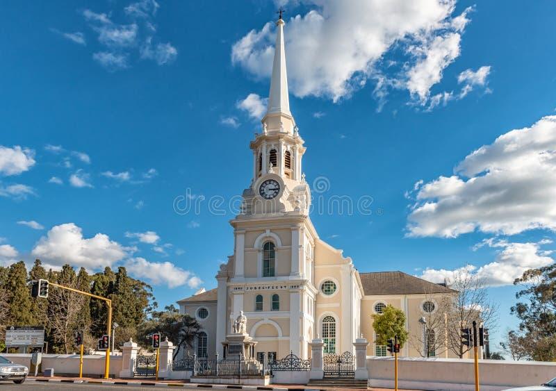 荷兰语被改革的主教堂在西开普省的惠灵顿 免版税库存照片