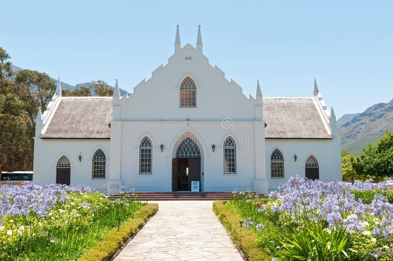 荷兰语被改革的教会, Franschoek 免版税库存照片