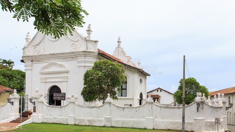 荷兰语被改革的教会-加勒-斯里兰卡 图库摄影