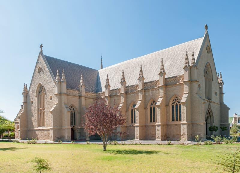 荷兰语被改革的主教堂在Oudtshoorn 库存图片
