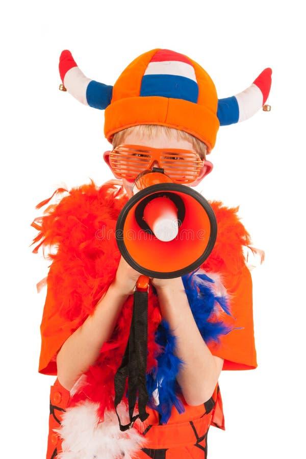 荷兰语足球支持者 免版税库存图片