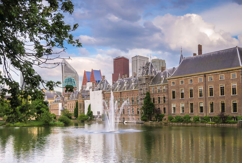 荷兰语Parlament,海牙 图库摄影