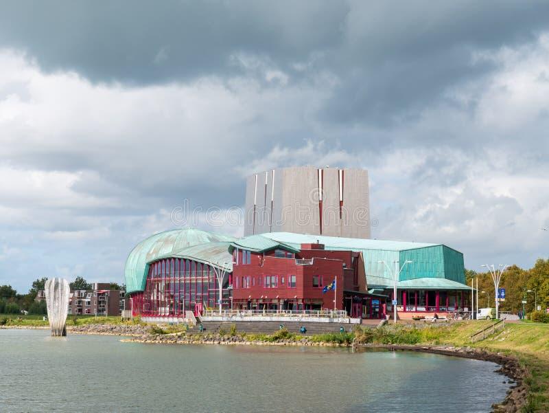 荷兰诺德 — 荷兰霍恩Markermeer湖畔的Het Park剧院 图库摄影