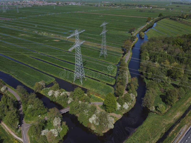 荷兰输电塔 免版税库存照片