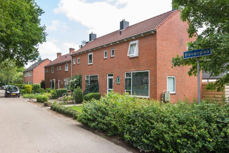 荷兰连栋房屋 免版税图库摄影