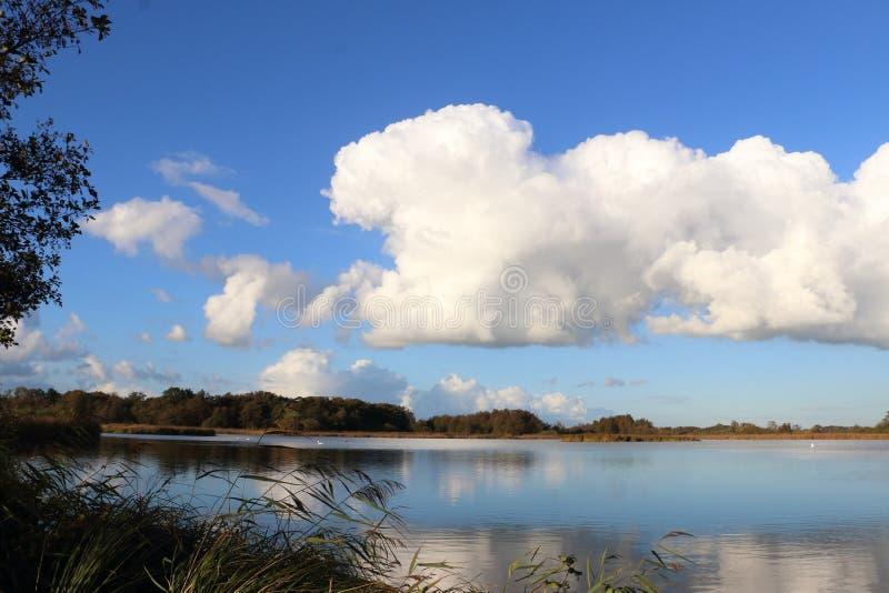 荷兰风景在上艾瑟尔省 库存照片