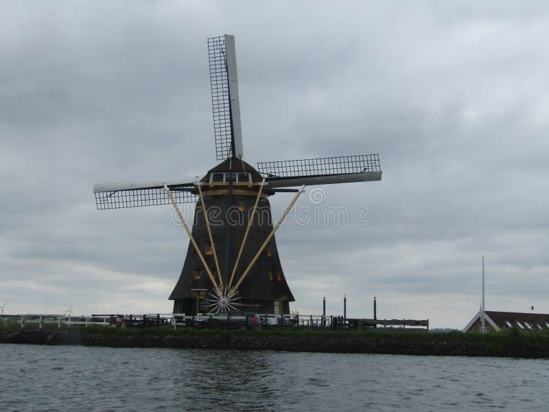 荷兰风车, Alphen小室Rijn 免版税库存图片