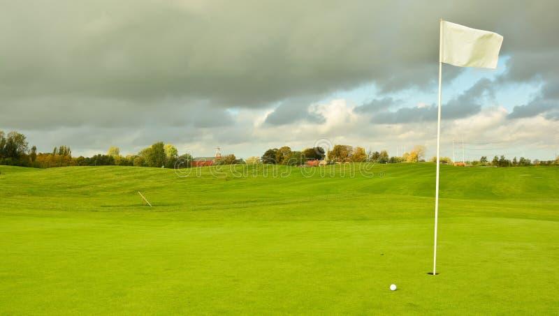 荷兰高尔夫球场 免版税库存照片