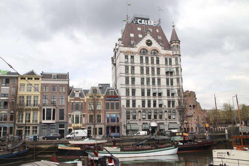 荷兰鹿特丹首栋摩天大楼 库存照片
