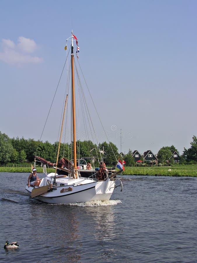 荷兰sailingyacht 免版税库存图片