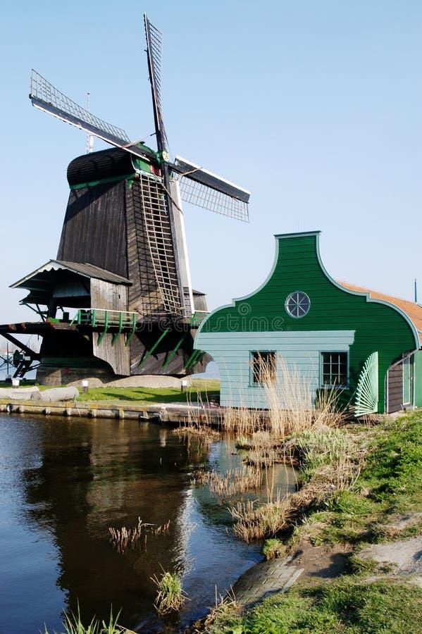 荷兰schans风车zaanse 免版税库存照片