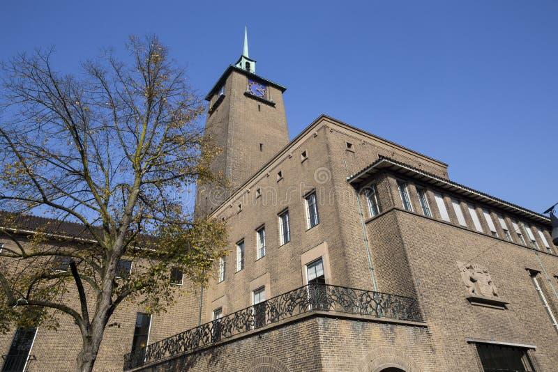 荷兰townhall的恩斯赫德市 免版税库存照片