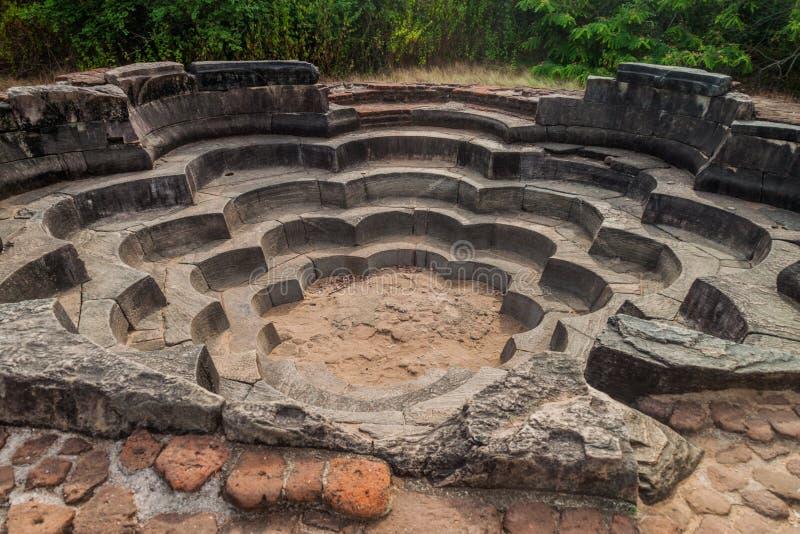 荷花池Nelum Pokuna在古城波隆纳鲁沃,斯里Lan 库存图片