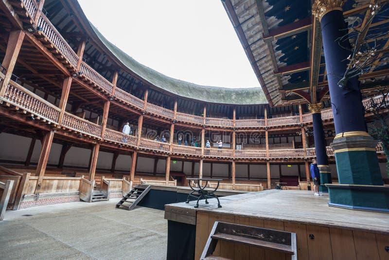 莎士比亚地球剧院伦敦英国阶段 免版税库存照片