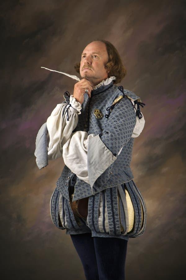 莎士比亚认为 免版税图库摄影