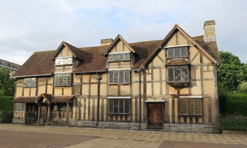 莎士比亚` s出生地在Avon的斯特拉福在英国 免版税库存图片