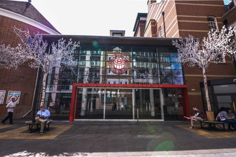 莎士比亚` s博物馆入口 图库摄影