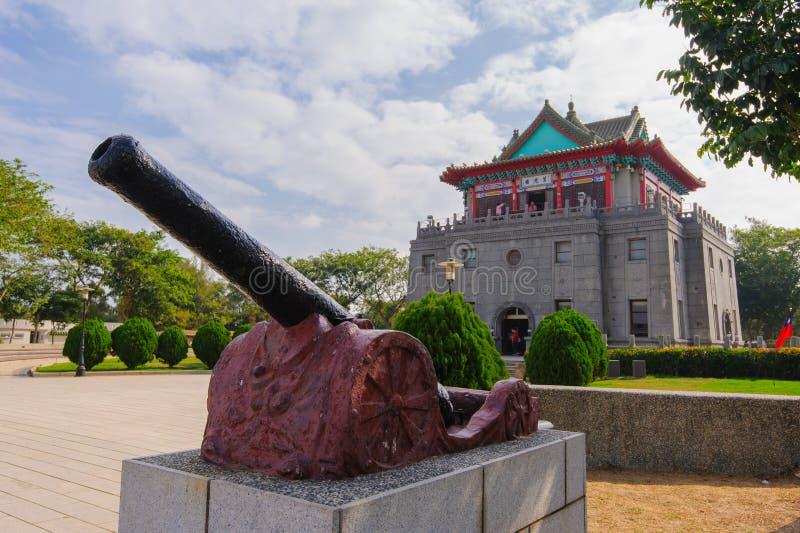 莒光塔在金门,台湾 免版税库存照片
