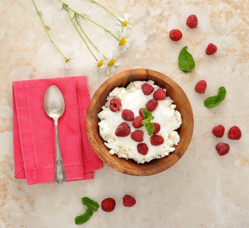 莓、春黄菊花和薄荷叶 库存图片