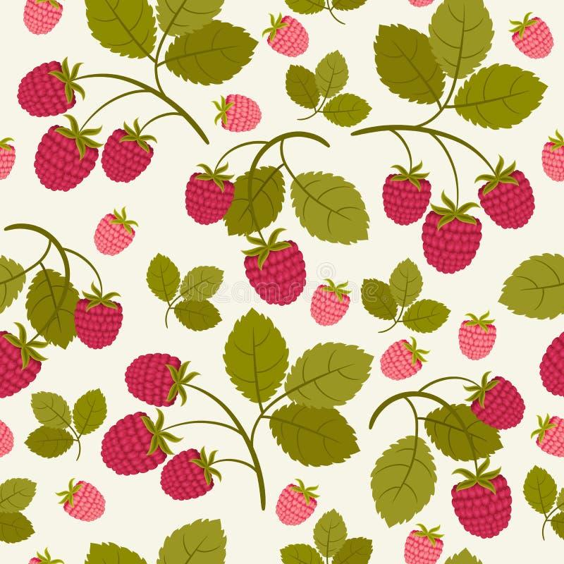 莓无缝的墙纸 向量例证
