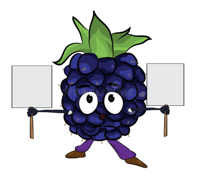 黑莓果子动画片例证 向量例证