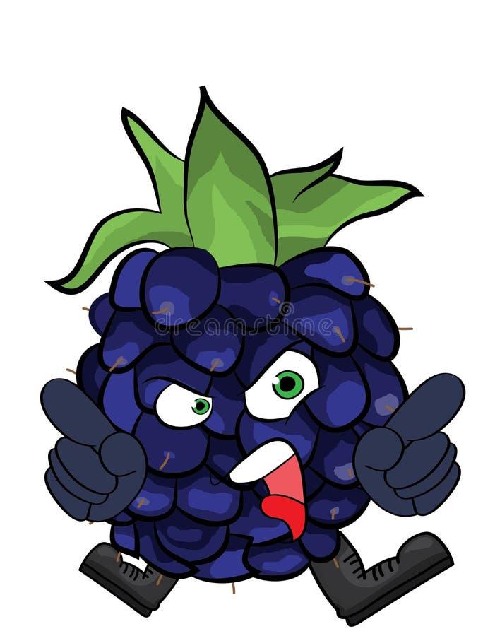 黑莓果子动画片例证 皇族释放例证