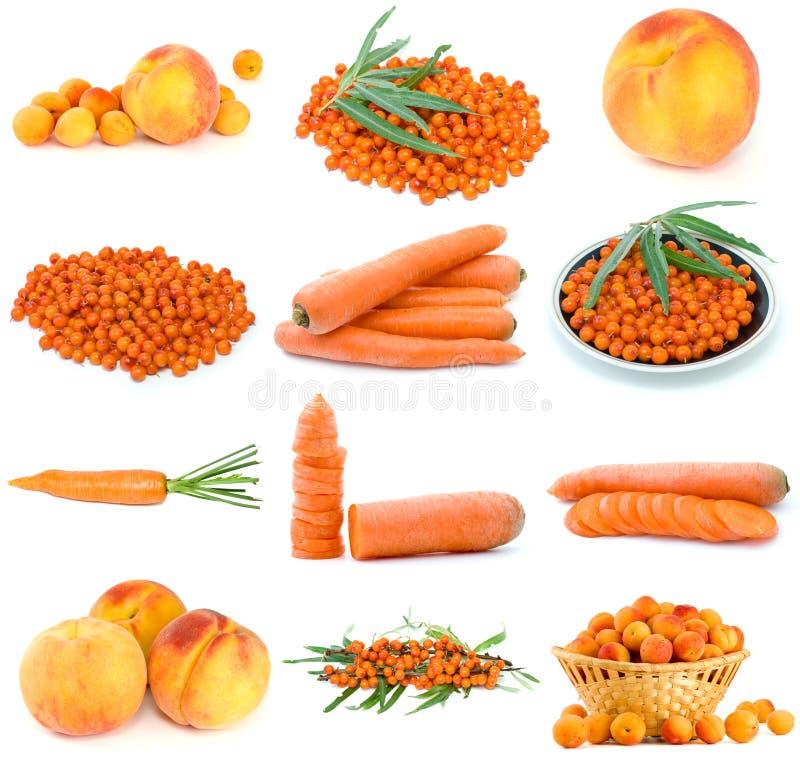莓果桔子集合蔬菜 图库摄影