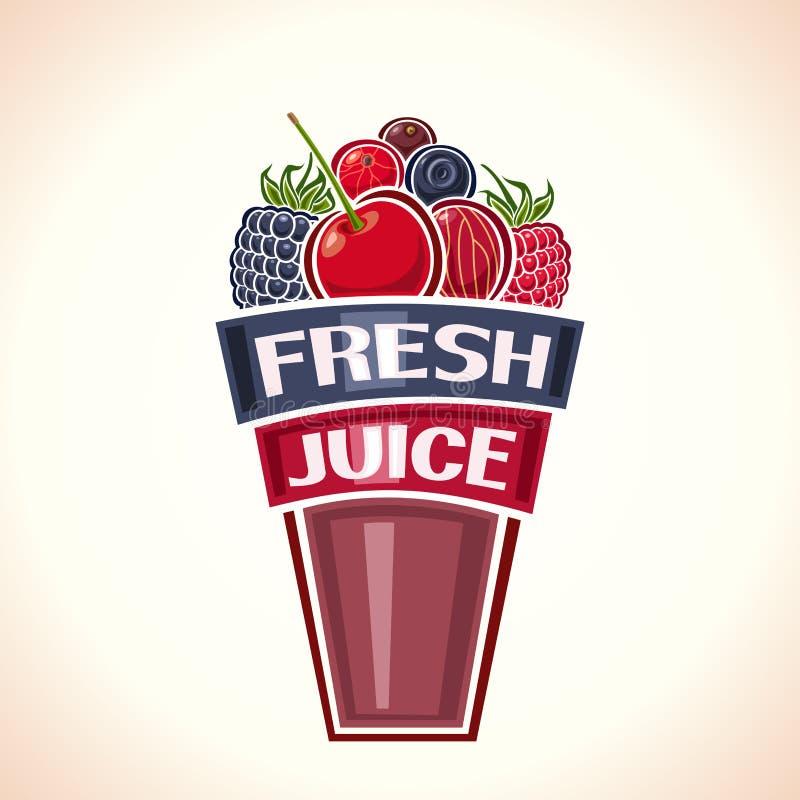 从莓果的新鲜的汁液 皇族释放例证
