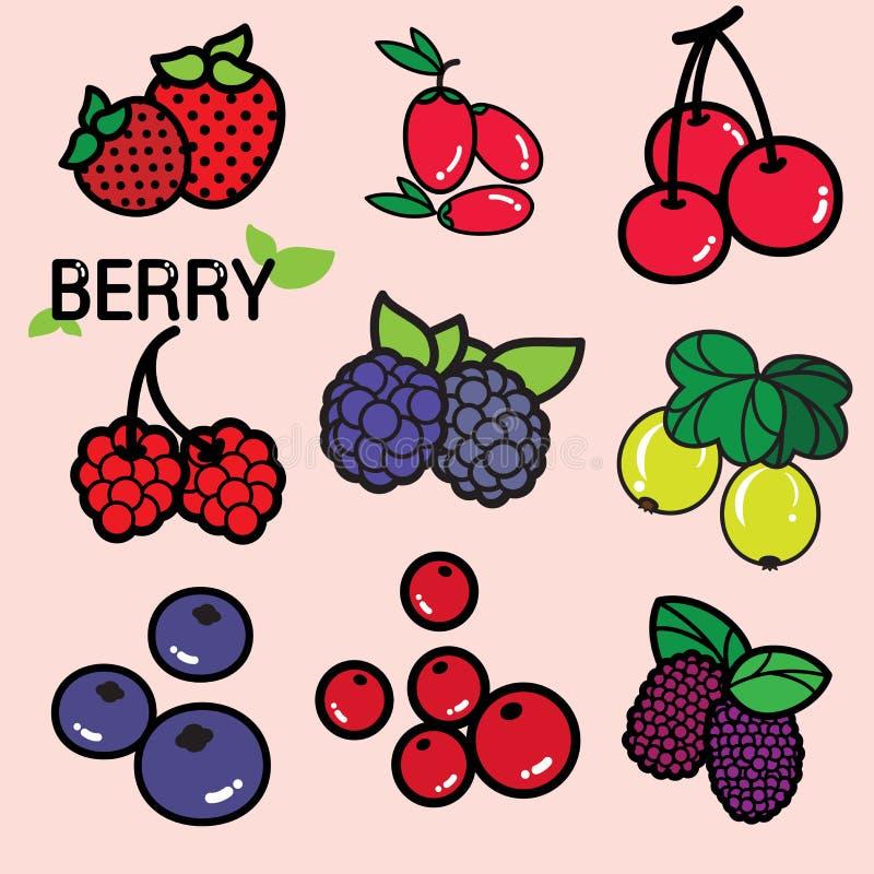 莓果 皇族释放例证