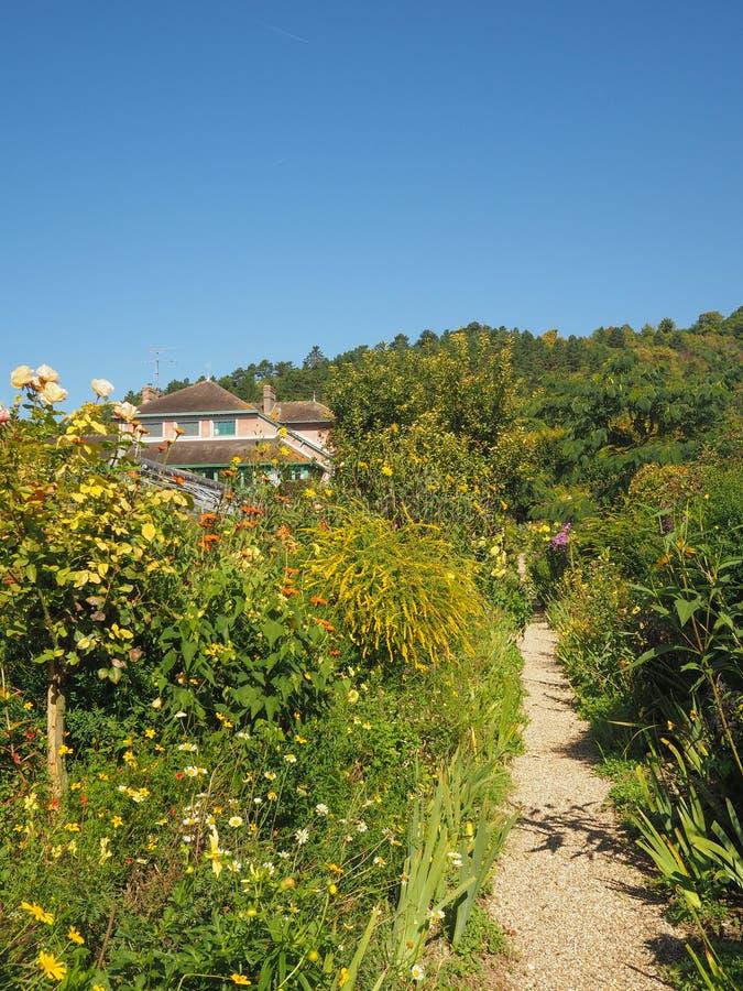 莫内房子和庭院在吉韦尔尼法国 免版税库存图片