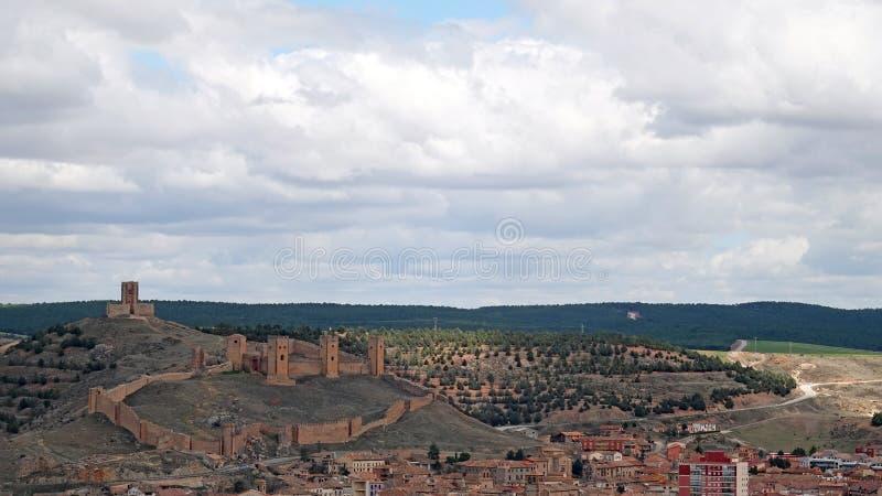 莫利纳德亚拉贡城堡在西班牙 库存照片