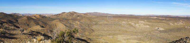 莫哈韦沙漠全景风景约书亚树国家公园加利福尼亚美国 免版税库存图片