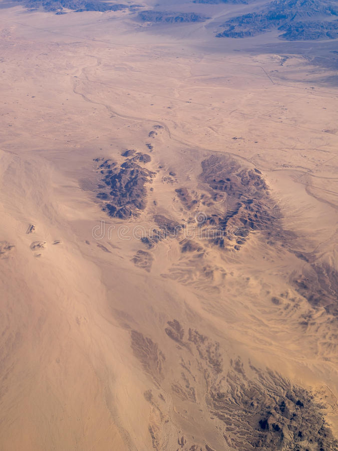 莫哈维沙漠和约书亚树国家公园 免版税库存照片