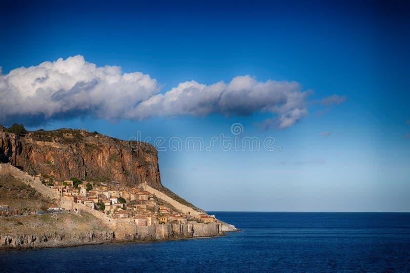 莫奈姆瓦夏-希腊海岛 库存图片