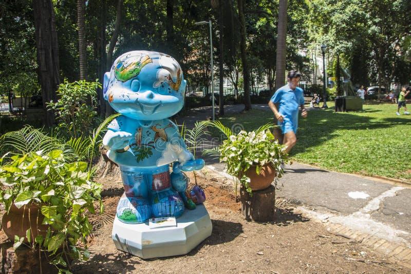 莫妮卡游行-布宜诺斯艾利斯公园-圣保罗 免版税库存照片