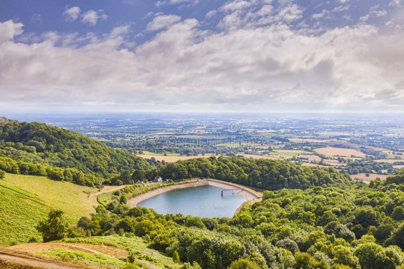 莫尔文小山、赫里福德和渥斯特夏,英国 免版税库存照片