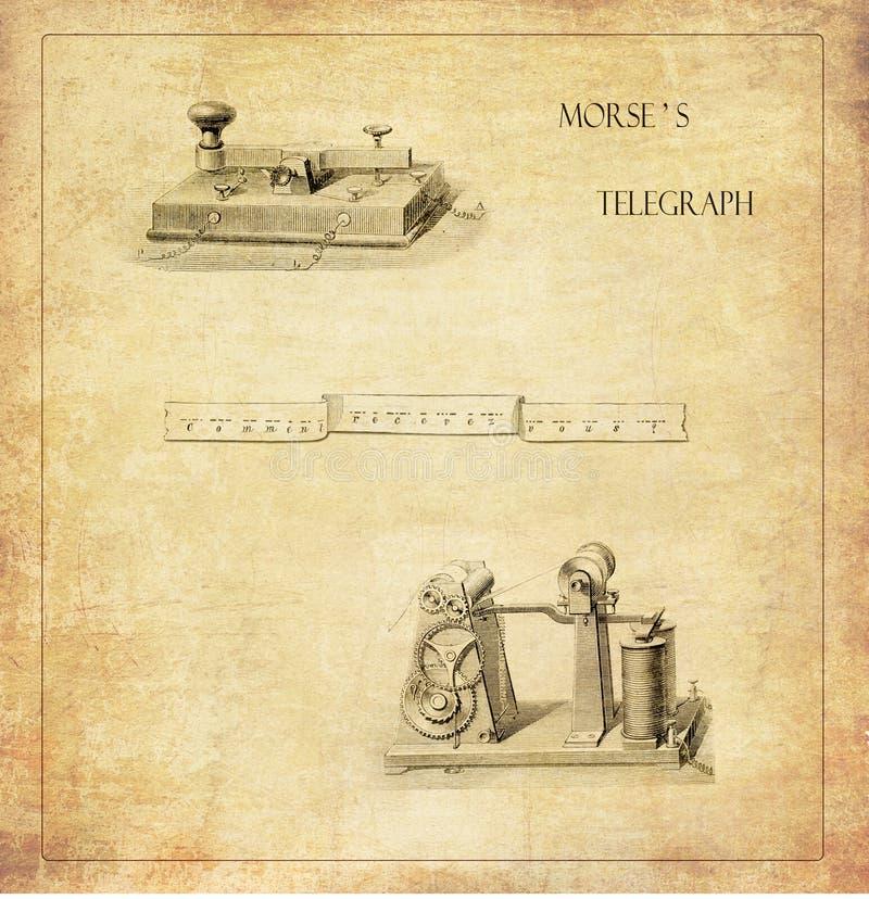 莫尔斯s通信机 库存例证