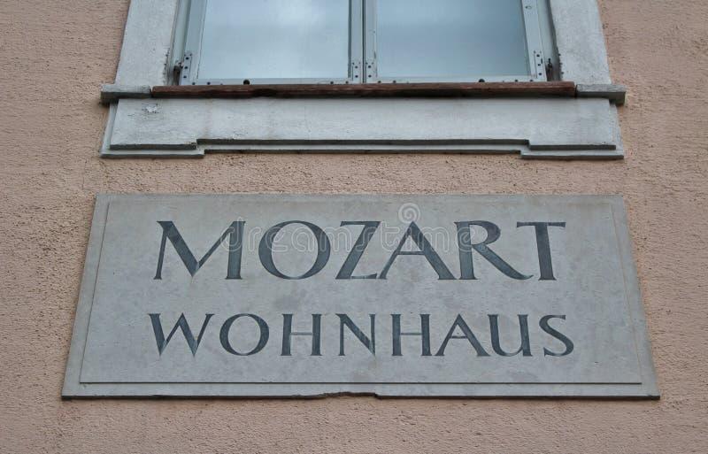 莫扎特Wohnhaus,萨尔茨堡 库存照片
