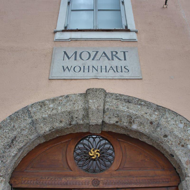 莫扎特Wohnhaus,萨尔茨堡 图库摄影