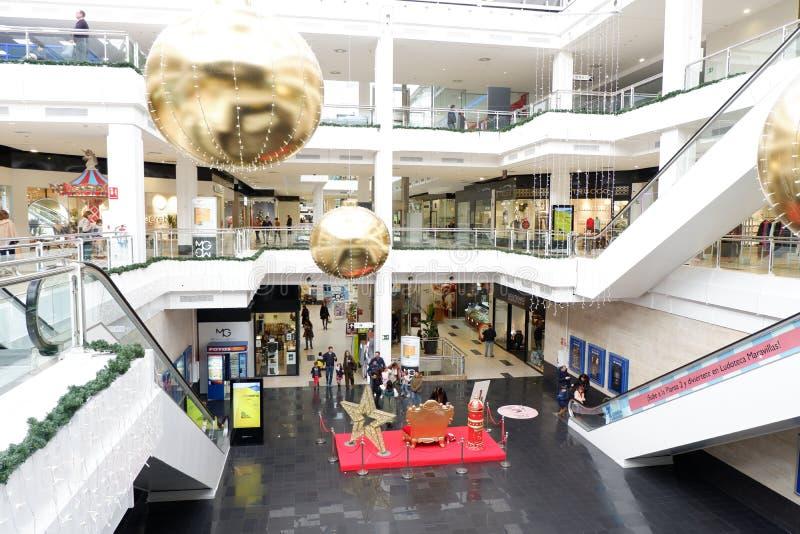 莫拉莱雅绿色购物中心,马德里 库存图片