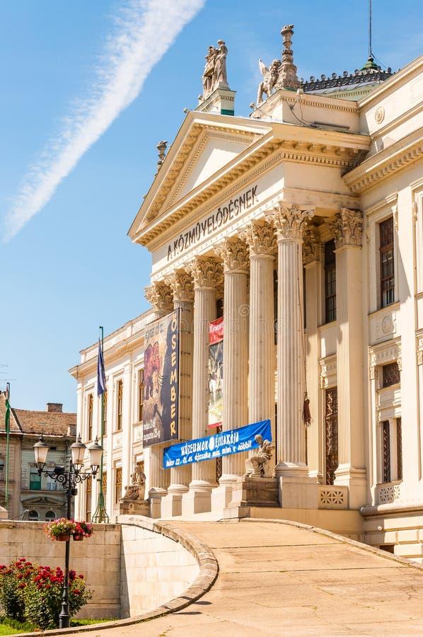 莫拉费伦茨博物馆主要门面在塞格德 博物馆在1883年被创办了,并且新古典主义的大厦在1896年被打开了 图库摄影