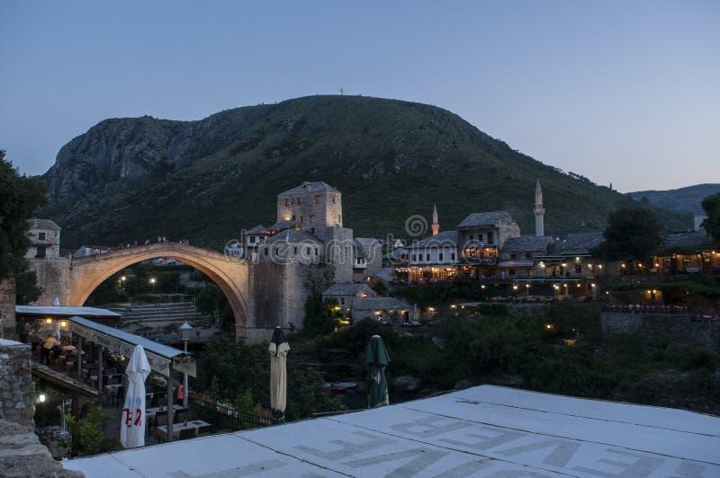 莫斯塔尔,最Stari,老桥梁,地平线,标志,奥斯曼帝国,波黑,欧洲,战争,重建 库存图片