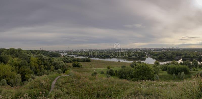 莫斯科休闲公园全景  免版税库存照片