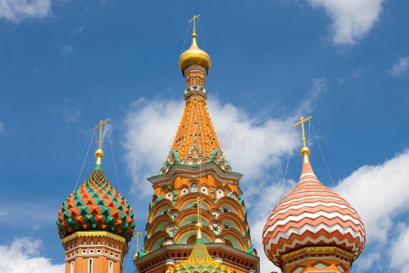 莫斯科俄国 圣蓬蒿的大教堂圆顶  免版税库存图片