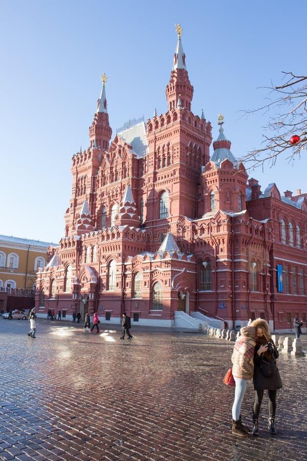 莫斯科俄国 红场,历史博物馆 库存照片