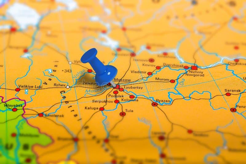 莫斯科俄罗斯地图 库存图片