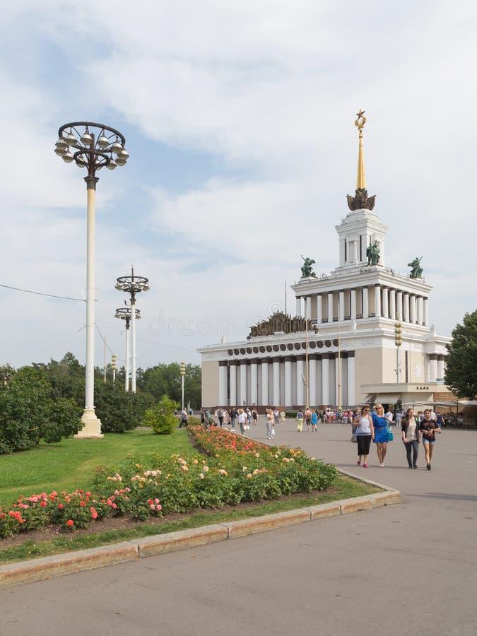 莫斯科俄罗斯展览会 免版税库存照片